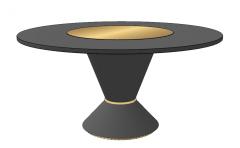 Dark wooden circle table sketchup