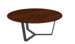 Red brown wooden table sketchup