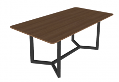 Rectangle wooden table sketchup