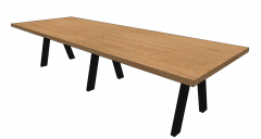 Wooden kitchen table sketchup