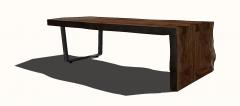Wooden tea table sketchup
