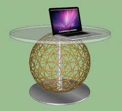 Circle tea table sketchup