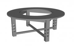 Gray circle table sketchup