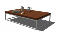 Rectangle table sketchup