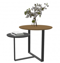 Coffee table with 2 circle tables top sketchup