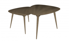Combination 2 wooden coffee tables sketchup