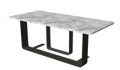 Rectangle marble table with steel frame sketchup
