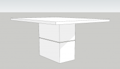 White wooden table sketchup