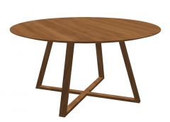 Circle wooden coffee table sketchup