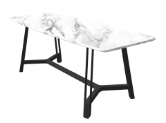 Rectangle oval kitchen table sketchup