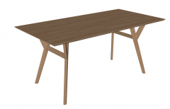 Wooden rectangle table sketchup
