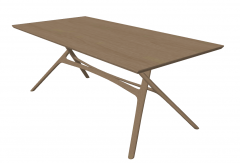 Brown wooden table sketchup