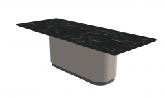 Dark marble rectangle kitchen table sketchup