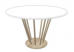 Circle wooden table sketchup