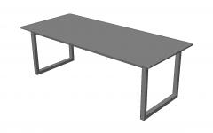 Gray wooden table sketchup