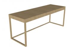 Wooden school table sketchup
