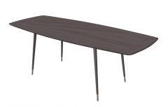 Wooden table with golden cover leg foot sketchup