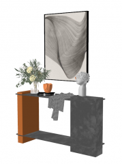 Cement decorative make-up table sketchup