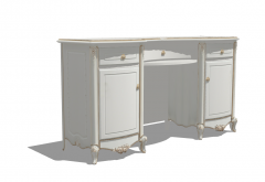 Wooden make-up table with hinge door and drawer sketchup