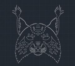 Bobcat head design