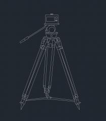 三脚上のカメラ