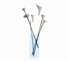 White Lily flower vase revit famiy