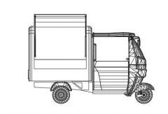 Рикша cart.dwg рисунок