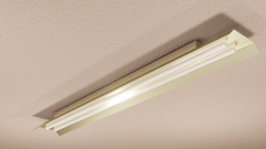 Ceiling mounted fluorescent light revit family
