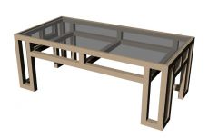 simple thin designed waiting area center table 3d model .3dmf format