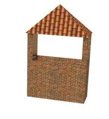 conical roof chimney designed 3d model .3dm format