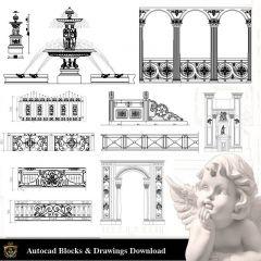 建築装飾要素CADブロックバンドルV.3