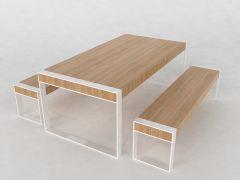 Dining Room Thick Lumber sldasm model