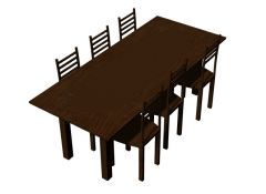 Dinning table for cafeteria 3d model .3dm format