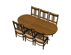 simple designed with six siting for cafeteria 3d model .3dm format