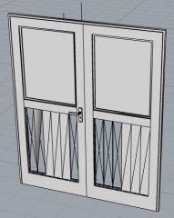 Double Door 3D模型.3dm格式