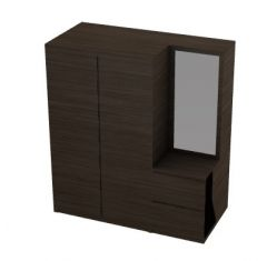 Modern wooden dresser 3d model .3dm format