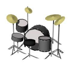 drum set designed modern designed 3d model .3dm format