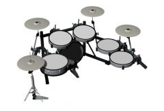 drum set with modern look and fully equipped 3d model .3dm format