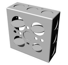 simple large designed electric meter box 3d model .3dm format