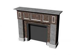 modern large designed fire place 3d model .3dm format
