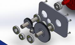 Gear train sldasm Model