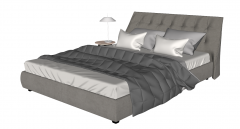 Gray leather bed sketchup