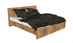 Wooden simple bed sketchup