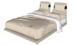 Brown bed sketchup