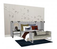 Bedroom design sketchup