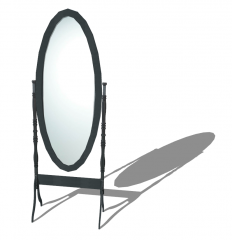 Table mirror with wooden frame sketchup