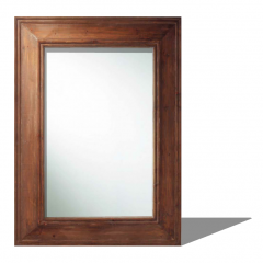 Rectangle mirror with wooden border sketchup