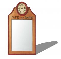 Decorative mirror with clock sketchup