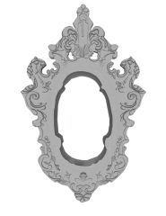 Decorative mirror with parget border sketchup
