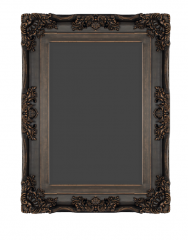 Decorative rectangle mirror with dark brown wooden sketchup